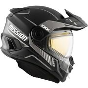 Ckx Ams Mission Snowmobile Helmet Tracker Glossy Grey Full Face 510821 510771