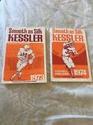 1972 And 1973 Kessler Smooth As Silk Nfl Football Fans Guides College Section Too