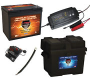 Vmax Mr107 Battery Bc12m248 Charger Vcb60 Box 9cable For 50lb Trolling Motor