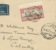 Egypt Rare Simon Arzt Port Said Airmail Letter Tied Rate 40 Mill. To India 1937
