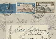 Egypt Rare Simon Arzt Port Said Airmail Letter Tied Rate 33 Mill. To Suiess 1936