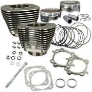 Sands Cycle 910-0338 124in. Big Bore Kit - Silver Powder-coat