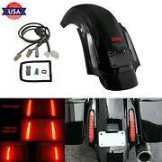 Cvo Style Led Rear Fender System Clear Lens Fit For Harley Touring Flhx 2009-13