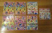 Vintage 1990s Lisa Frank Easter Stickers-7 Sheets-intact-bunnies-dogs-eggs-bears
