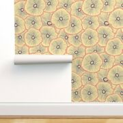 Removable Water-activated Wallpaper Flowers Underwater Layered Distressed Coral