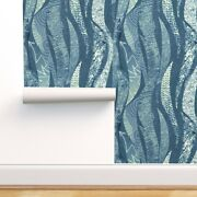 Removable Water-activated Wallpaper Abstract Ocean Rolling Waves Sea Nautical