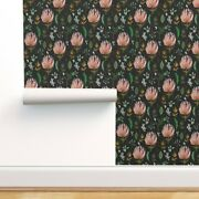 Wallpaper Roll Micro Floral Flower Protea Leaf Nature 24in X 27ft