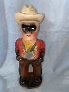 1950and039s The Lone Ranger Chalkware Carnival Prize Vintage Statue Figure