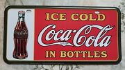 1990's Ice Cold Coca-cola In Bottles Booster License Plate