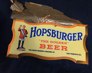 San Francisco Pre Prohibition Beer Advertising Sign Saloon Back Bar Amazing Mint