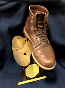 Vintage 1920's Advertising Shoe Store Display Tin Stand Country Store