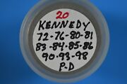 2 Rolls Of Kennedy Half Dollarandrsquos Mixed Dates 1972-2000 Pd 40 Coins Total