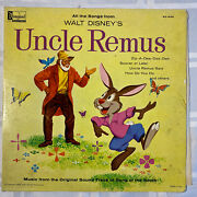 Walt Disneyand039s Uncle Remus Song Of The South 1963 Vinyl Record Lp