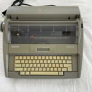 Brother Sx-4000 Portable Electronic Typewriter Digital Display Tested No Cover