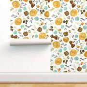 Wallpaper Roll Autumn Floral Girls Watercolor Baby Girl Nursery 24in X 27ft