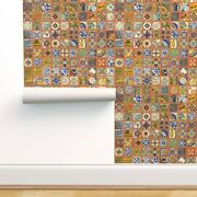 Peel-and-stick Removable Wallpaper Talavera Mexican Tile Colorful Bold