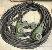 Military Vehicle Nato Plug Slave Cable 50and039 Foot 24v 500 Amp Hmmwv Mrap