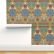 Peel-and-stick Removable Wallpaper Gothic Notre Dame Gold Paris Religious Church