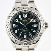 Breitling Superocean Automatic Ref A17340 Menandrsquos Stainless Steel Black Dial 2002