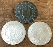 Three 1/4 Oz Silver Rounds