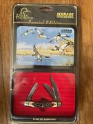 Schrade 77uh Knife Ducks Unlimited Muskrat Special Edition 3-7/8 W/clampac
