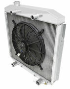1953-1956 Ford Truck Radiator And Fan For V8 Flathead Motor Champion 2 Row
