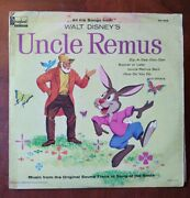 1959 Walt Disney Uncle Remus Song Of The South 12 Record Brer Rabbit Zip A Dee