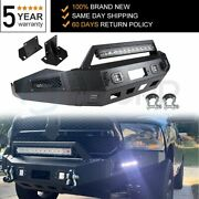 Steel Step Front Bumper Assembly For Dodge Ram 1500 2013 2014-2018 W/ Light New