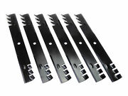 6 Toothed Mulching Blades For Dixie Chopper 30227-60 60 Deck Gravely Hustler