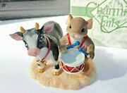 Fitz And Floyd Charming Tails Mouse I'm Moo-ved By You Christmas Cow  Nativity