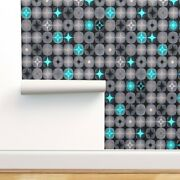 Wallpaper Roll Cosmos Blue Mid Century Modern Space Star Matter 24in X 27ft