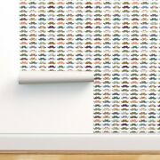Wallpaper Roll Mustache Mania Abstract Rainbow Hipster Funny Nature 24in X 27ft