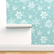 Wallpaper Roll Snow Snowflake Winter Blue Holiday Season Nature 24in X 27ft