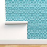 Wallpaper Roll Fair Isle Holiday Winter Knitting Snowflake 24in X 27ft