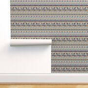 Wallpaper Roll Christmas Sweater Fair Isle Holiday Winter Moose Fox 24in X 27ft