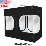96and039and039x48and039and039x80and039and039 Indoor Grow Tent Hydroponic Reflective Mylar Room Box 9and039x4and039 Ft