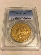 1858-s Xf45 Pcgs Liberty Double Eagle Type 1 20 Gold Coin Very Nice Appeal
