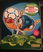 Neymar Rookie Panini Road To The World Cup 2014 Complete Sticker Set And Empty Alb