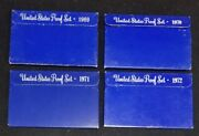 1969 1970 1971 1972 United States Proof Sets Consistent Original Packaging