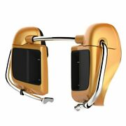 Hard Candy Gold Flake Lower Vented Fairing 6.5and039and039 Speaker Pod For 2014+ Harley