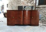 Antique 1930s French Art Deco Palisander Sideboard Buffet Credenza Bar Cabinet