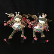 Mark Roberts Collectibles Posable Frog Plush Set Of 2