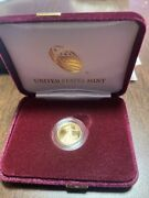 American Eagle 2021 One-tenth Ounce Gold Proof Coin In Hand