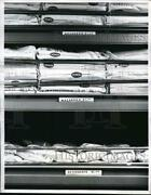 1961 Press Photo Mexico's Mobile Market, Food Staples Packed On Truck.