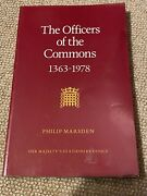The Officers Of The Commons 1363-1978 By Philip Marsden - Paperback Book