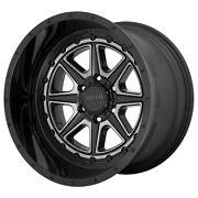 8x6.5 4 Wheels 24 Inch Rims Moto Metal Mo801 Phantom 24x12-44mm Black Gray Tint