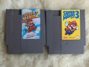Super Mario Bros 2 And Super Mario Bros 3 Nes - Tested - Works