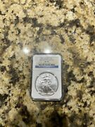 2011 W 1 Silver Eagle From The 25th Anniversary Set Ngc Ms69