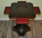 Super Rare Franklin Mint Scrabble Game Optional Table Stand W/ Base W/ Drawers