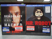 Mr. Robot Season 1 And 2 New Blu-ray Set Decal Patch Slipcover Best Buy Exclusive